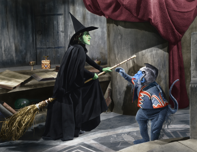 The Wicked Witch and her Flying Monkey from The Wizard of Oz