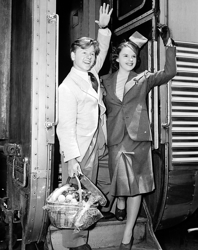 Mickey Rooney and Judy Garland - Pasadena