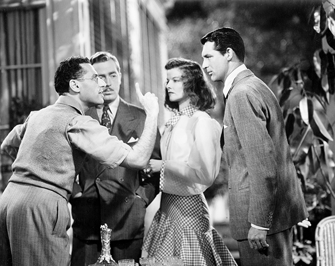 George Cukor gives some specific direction to his cast on the set of The Philadelphia Story.