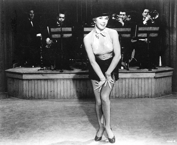 Doris Day in cabaret outfit in Love Me or Leave Me