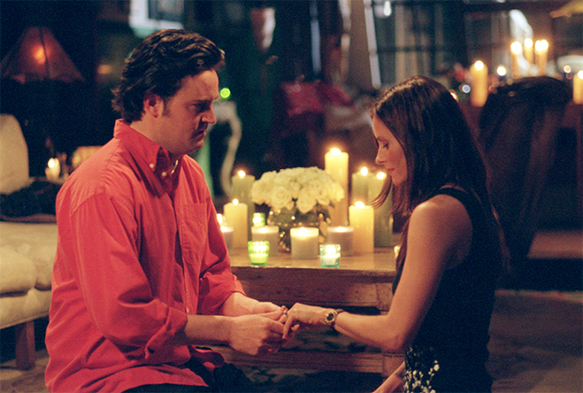 Chandler proposing to Monica