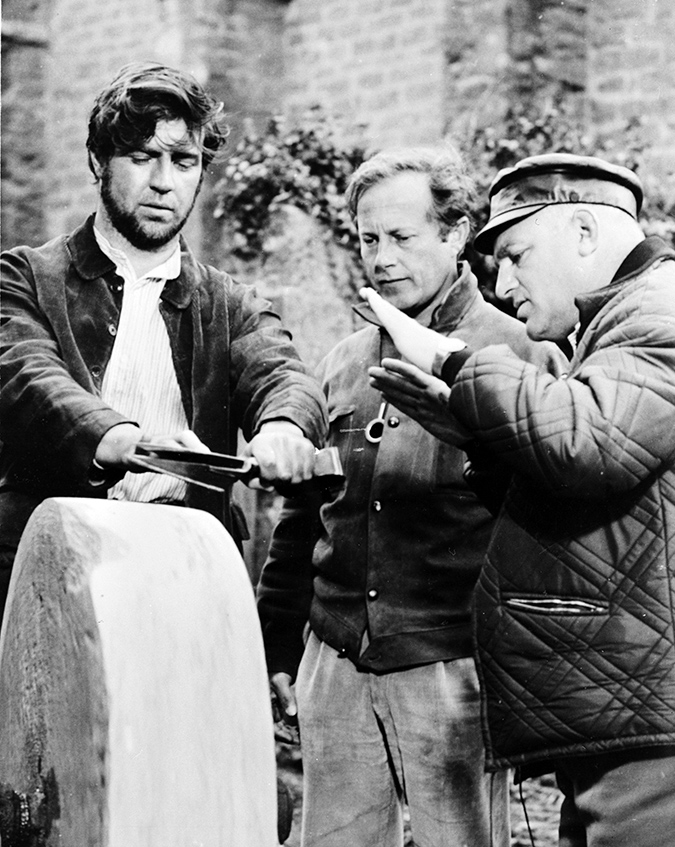 Actor Alan Bates, director of photography Nicolas Roeg, and director John Schlesinger Far from the Madding Crowd