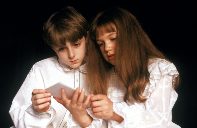 Heydon Prowse as Colin Craven and Kate Maberly as Mary Lennox in The Secret Garden