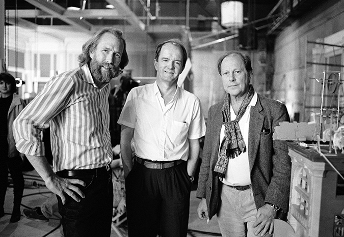 Executive Producer Jim Henson, producer Mark Shivas, and director Nicolas Roeg