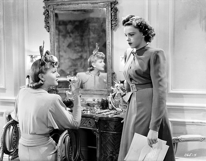 Lana Turner and Judy Garland