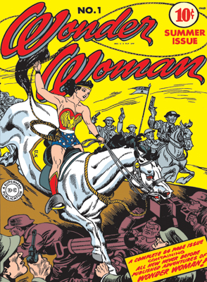Wonder Woman #1, 1942 - Written by William Moulton Marston, cover art, pencil and inks by Harry G. Peter