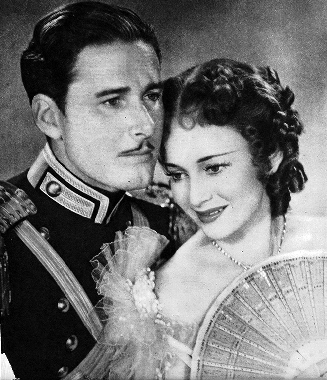The on-screen romance between Errol Flynn and Olivia de Havilland spanned six years and eight films.