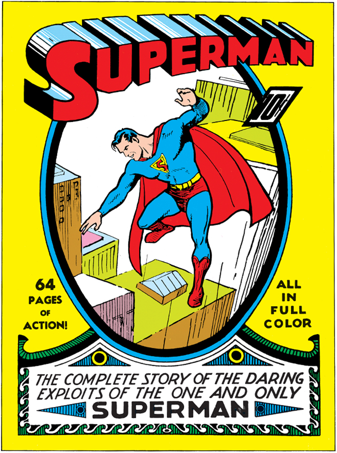 Superman creates comic book history by being the first super hero with his own self-titled series comprised of his own stories in this 1939 issue