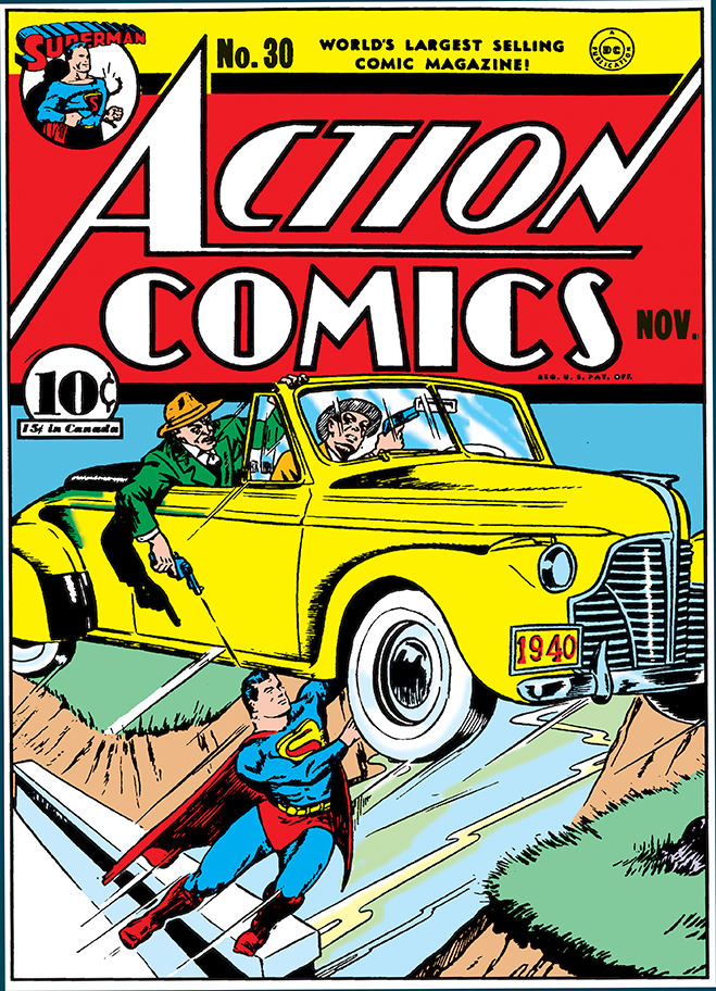 cover of action comics #30, published in 1940