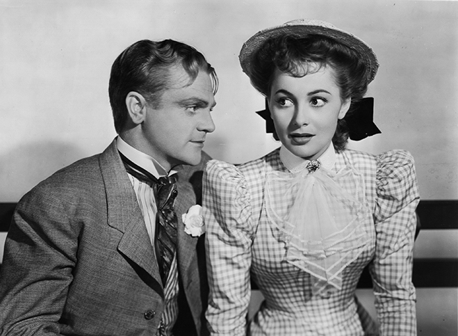 Teaming up again with James Cagney (they appeared previously in A Midsummer Night's Dream and The Irish in Us) in the romantic comedy, The Strawberry Blonde.