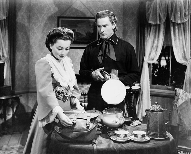 In their final film together, Errol Flynn played General George Custer with de Havilland as his wife. The bio-pic was a huge box office success.