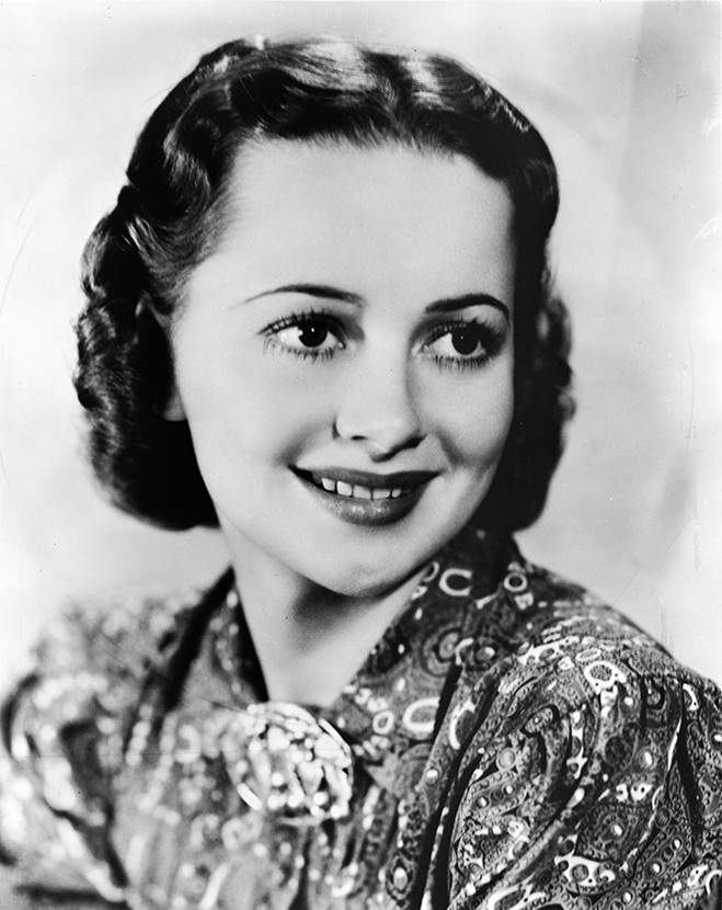 "The 26-year-old de Havilland in one of the publicity shots released for the 1943 romantic comedy Princess O'Rourke, which won the Oscar for ""Best Screenplay."""