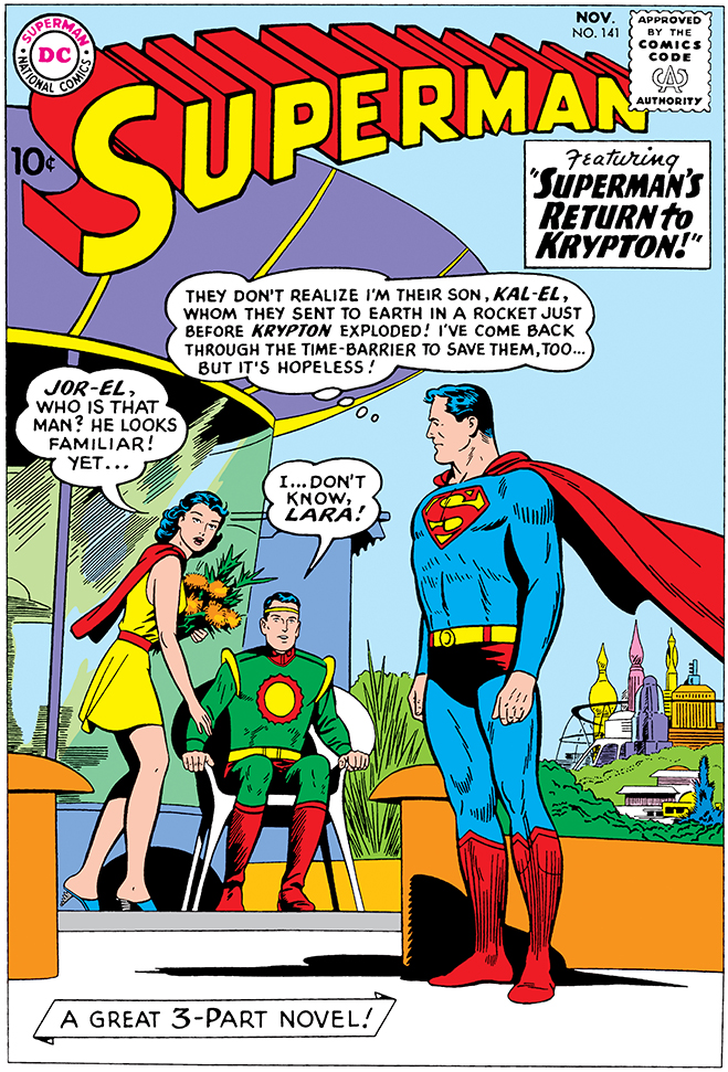 cover of supeman comic #141, published in 1960