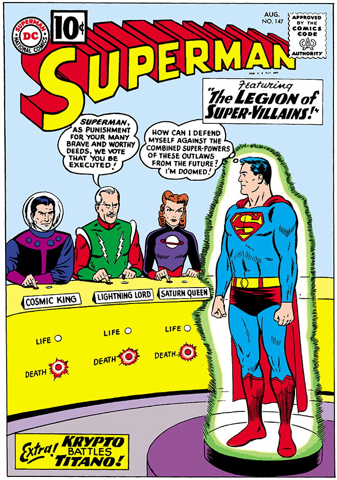 cover of superman comic #147, published in 1961