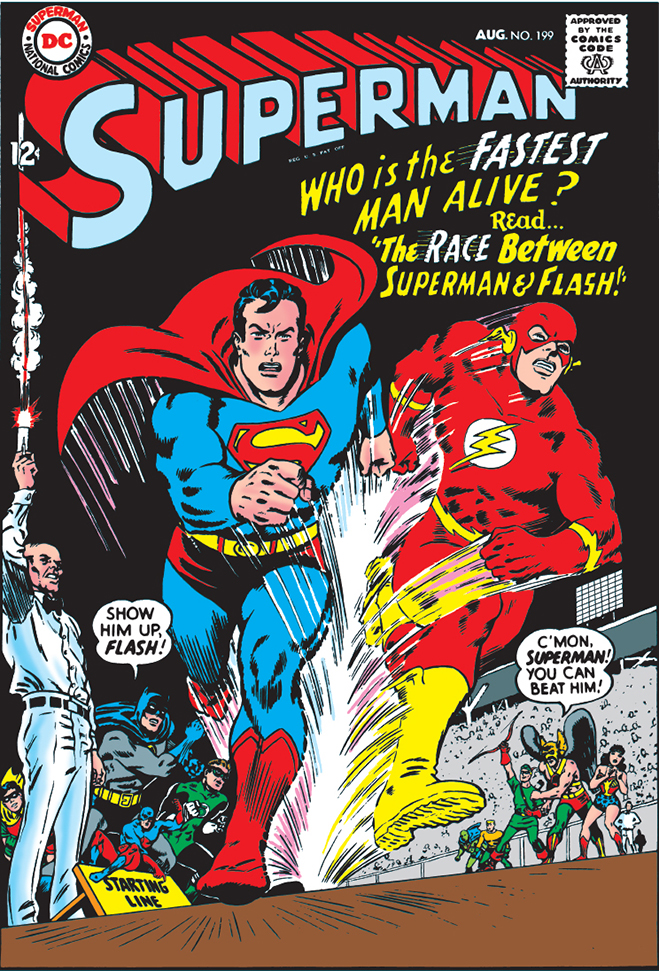 cover of superman comic #199, published in 1967