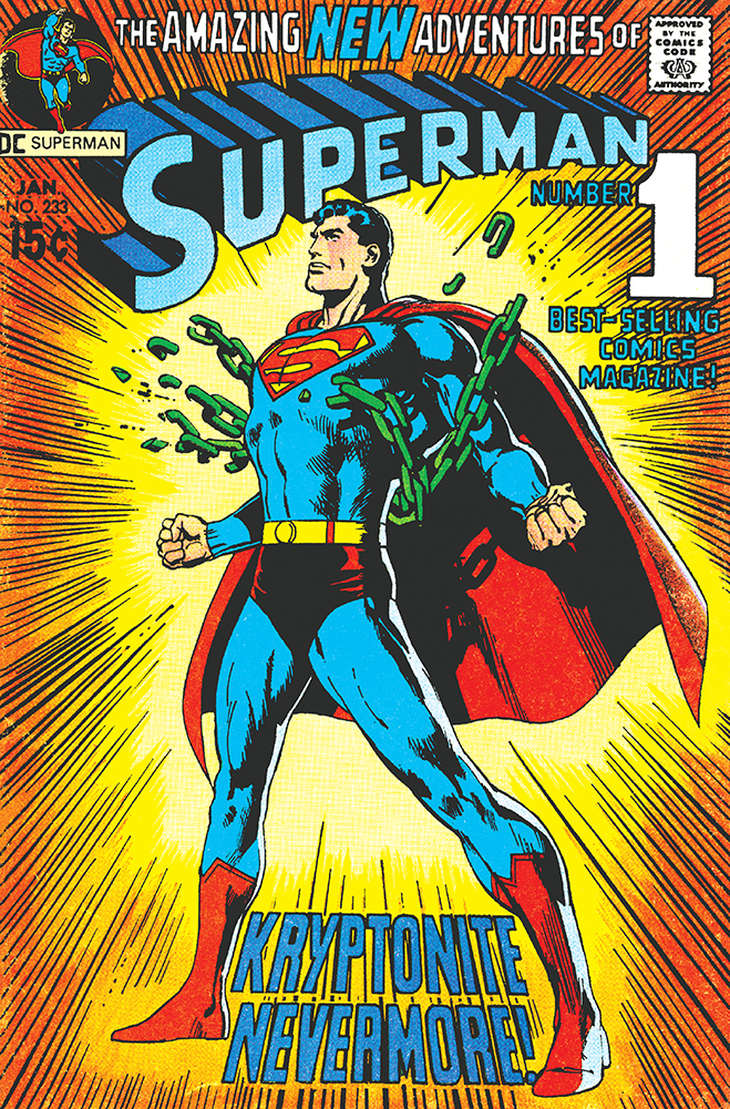 cover of superman comic #233, published in 1970