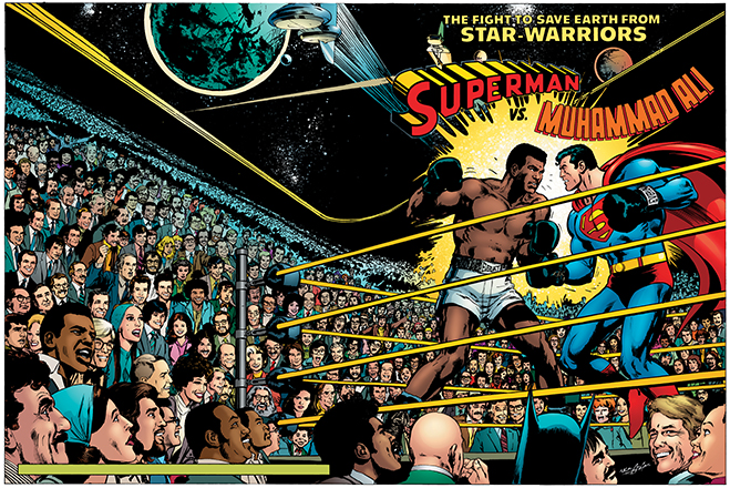 superman takes on boxing legend Muhammad Ali in this issue, published in 1978