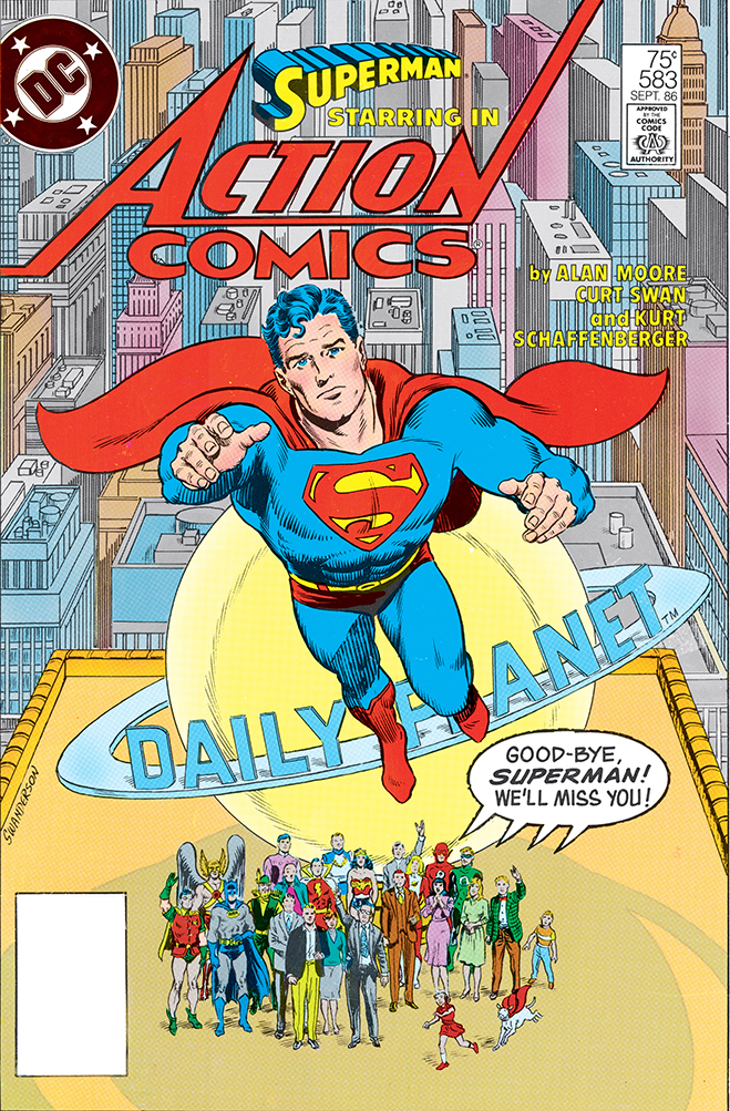 cover of action comics #583, published in 1986