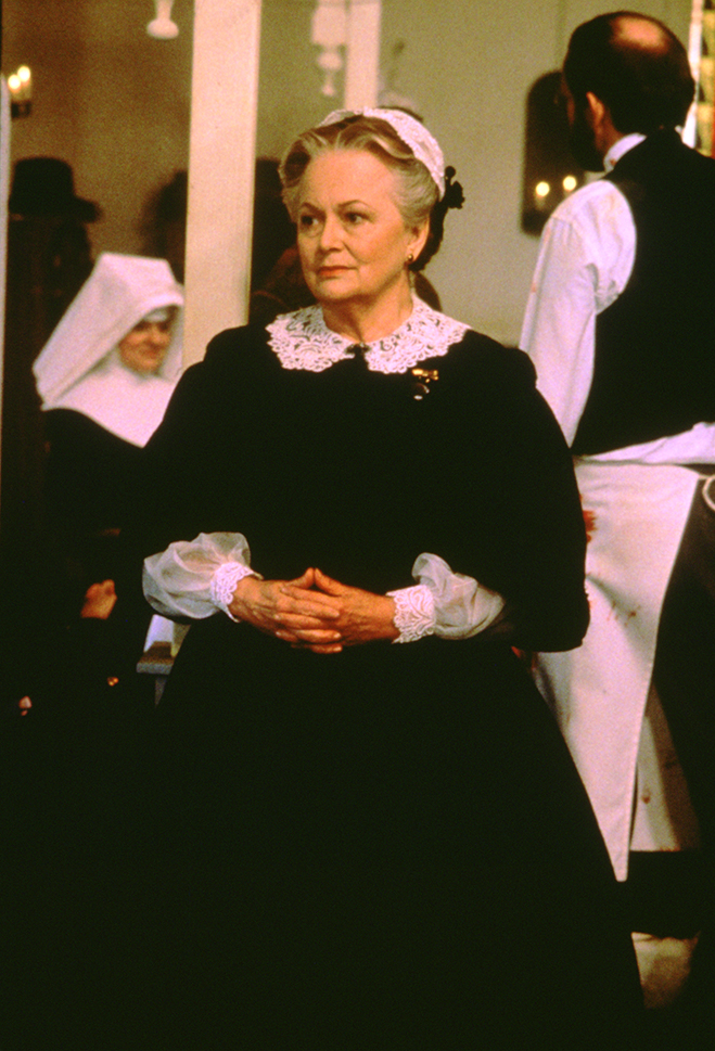 in one of her very last roles before retiring in 1988, de Havilland appeared in all six episodes of the second installment of this hugely popular miniseries.