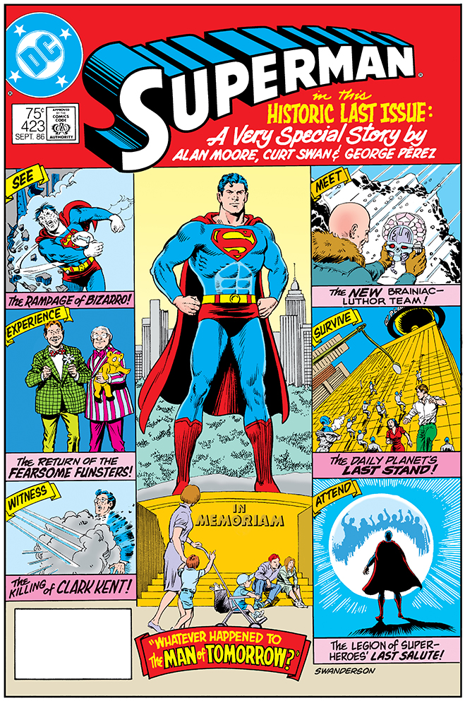 cover of superman comic #423, published in 1986