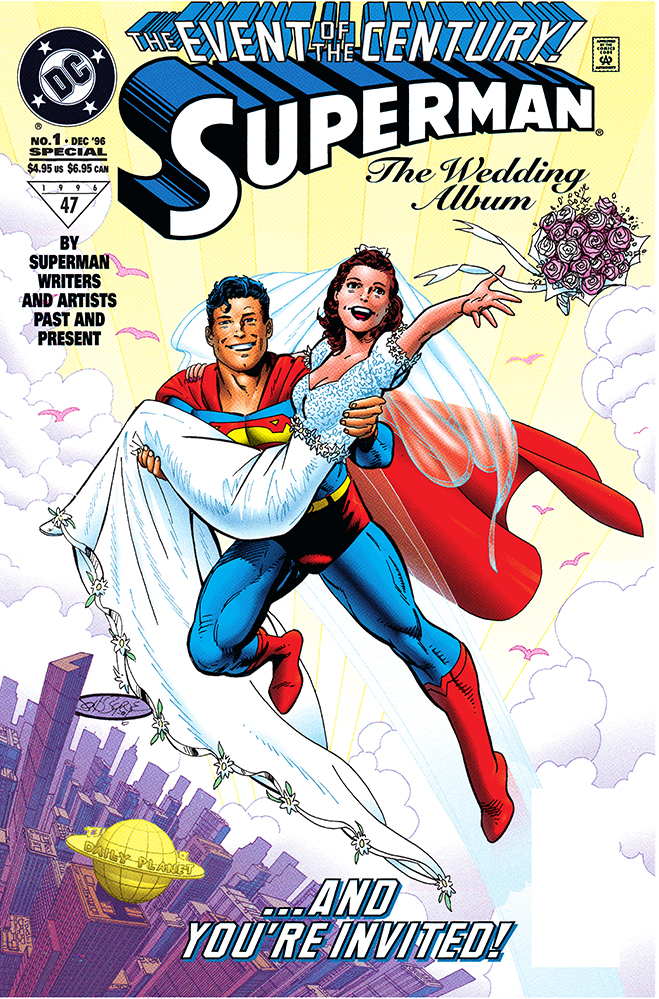 lois and clark get married in this 1996 issue