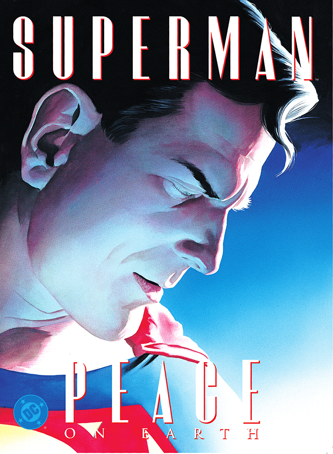 superman takes on world hunger in 1998's Superman: Peace on Earth