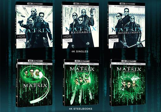 Matrix Trilogy - Singles and Steelbooks