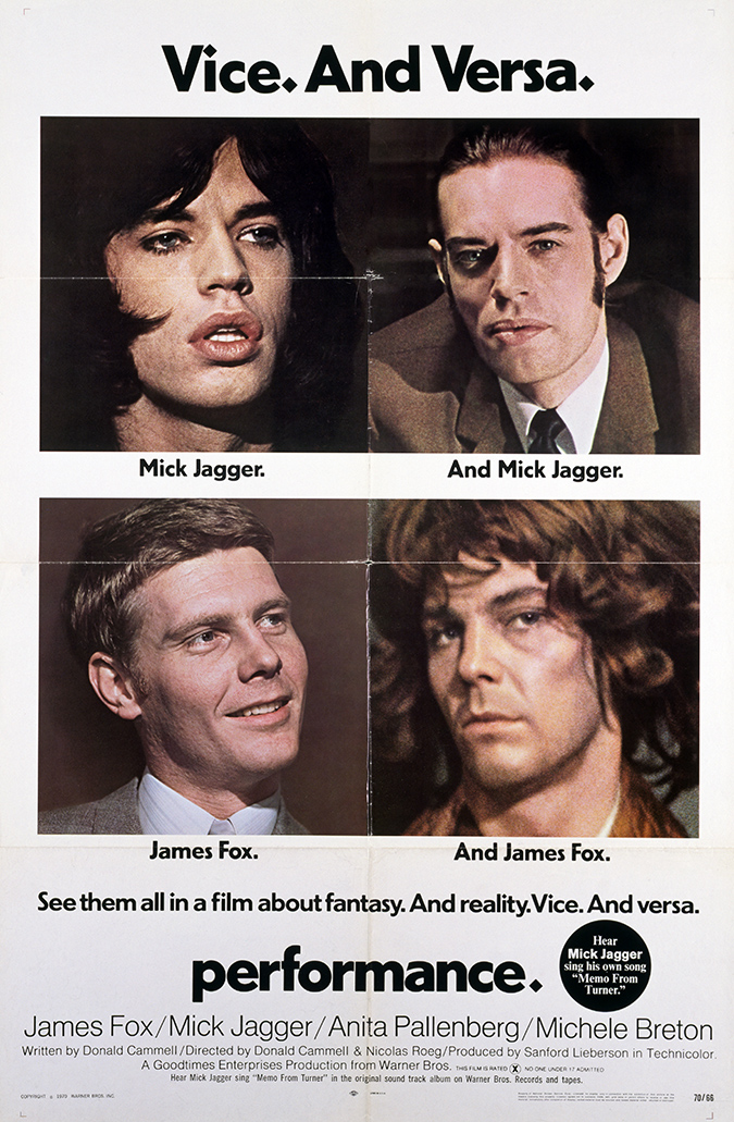 original one-sheet poster featuring James Fox and Mick Jagger
