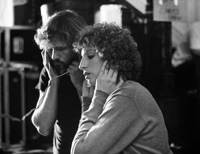 A Star is Born Kristofferson and Streisand recording session