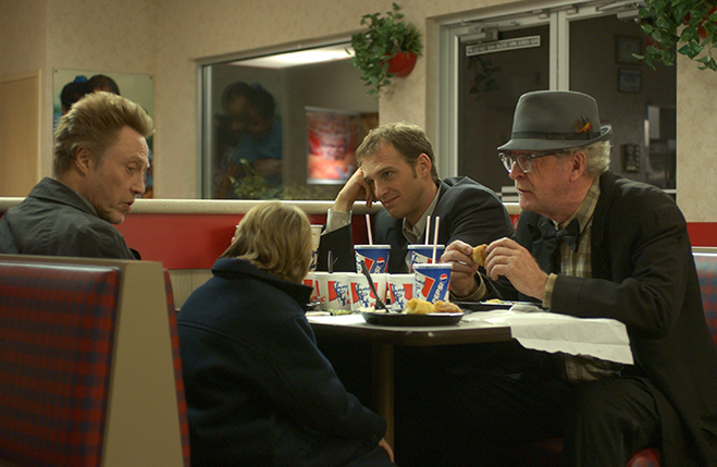 christopher walken, josh lucas, michael caine and jonah bobo pictured in the generational family drama, Around the Bend.