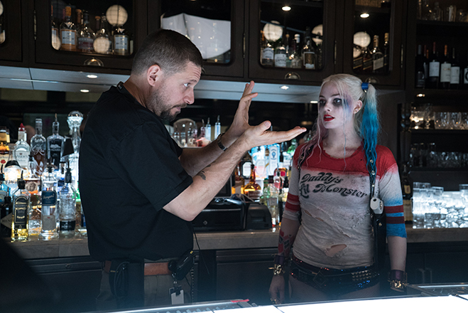suicide squad writer and director david ayer discusses a scene with margot robbie as harley quinn