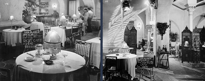 A look around the set of Rick's Cafe during filming in June of 1942.