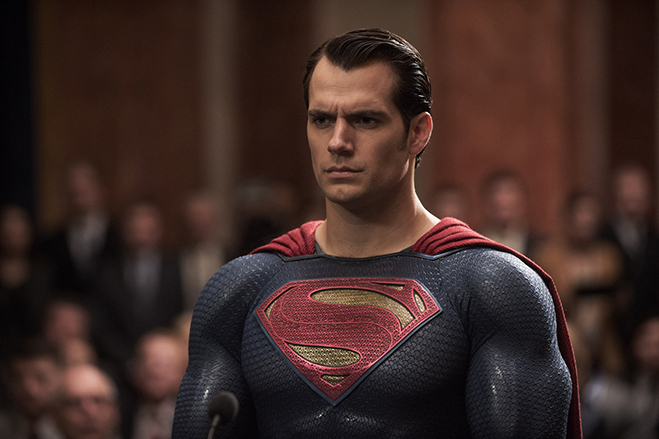 Henry Cavill as Superman in 2016's Batman v Superman: Dawn of Justice.