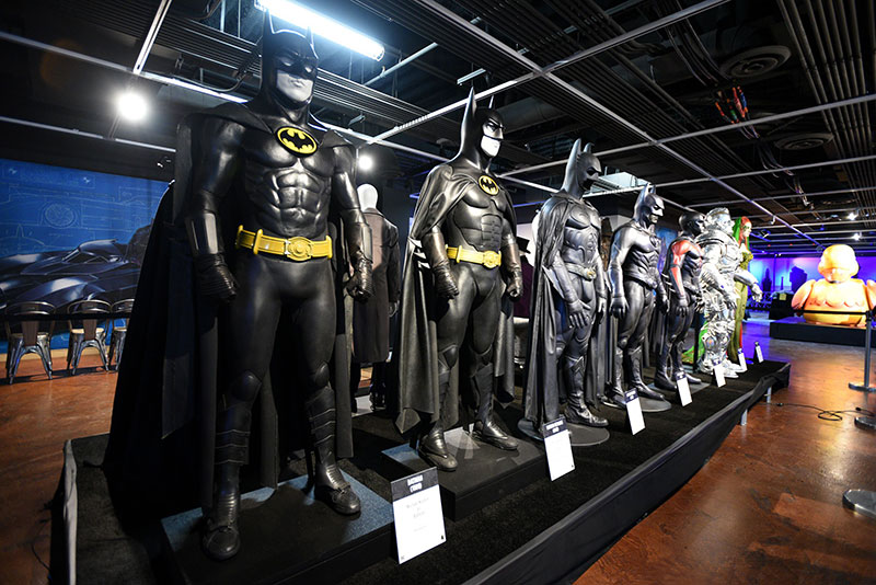 Batman costumes at The Batman Experience Powered by AT&T.