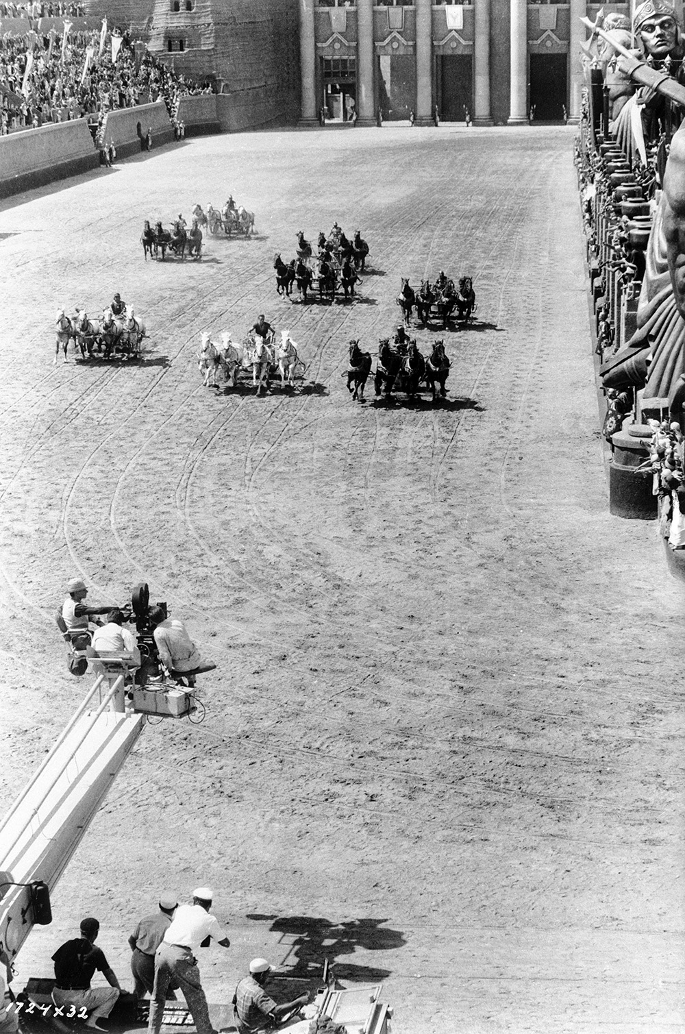 Chariot race in Ben-Hur (1959)