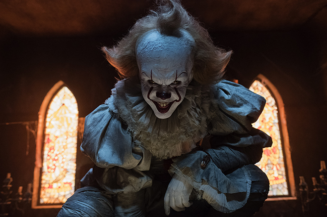 bill skarsgard stars as Pennywise in IT.