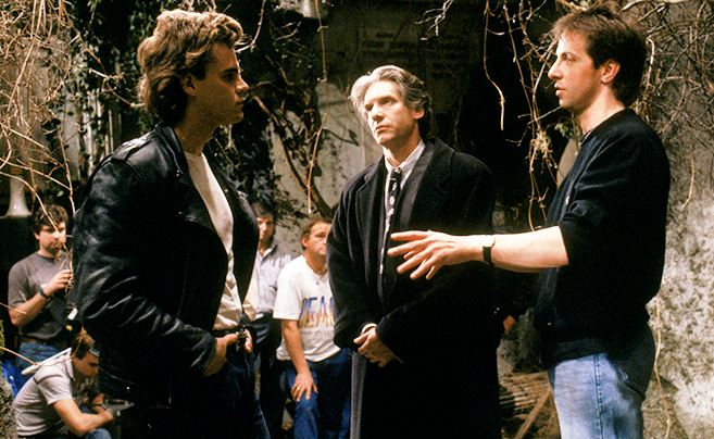 Clive Barker on set of Nightbreed