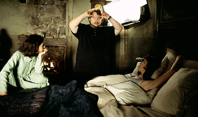 Guillermo del Toro on set of Pan's Labyrinth