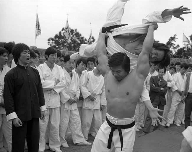Bolo Yeung, Lam Ching-ying and Bruce Lee