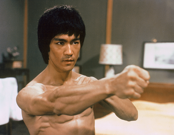 bruce lee in 1973's enter the dragon