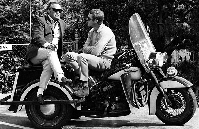 Director Peter Yates and Steve McQueen