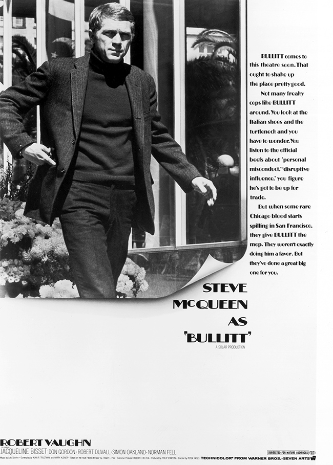 Steve McQueen - Bullitt Poster