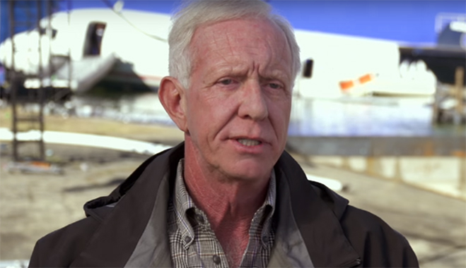 captain chesley sullenberger in a promotional image for the movie sully