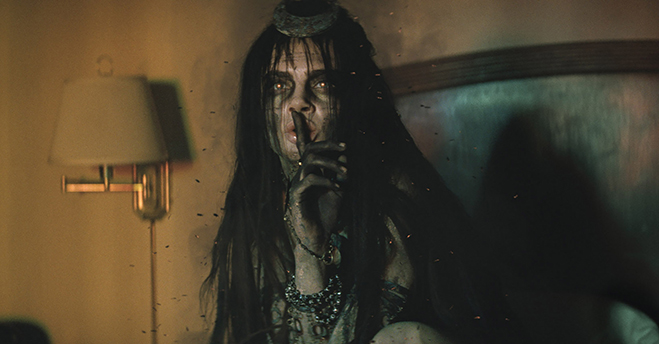 Cara Delevingne stars in the dual role of June Moone/Enchantress in Suicide Squad.