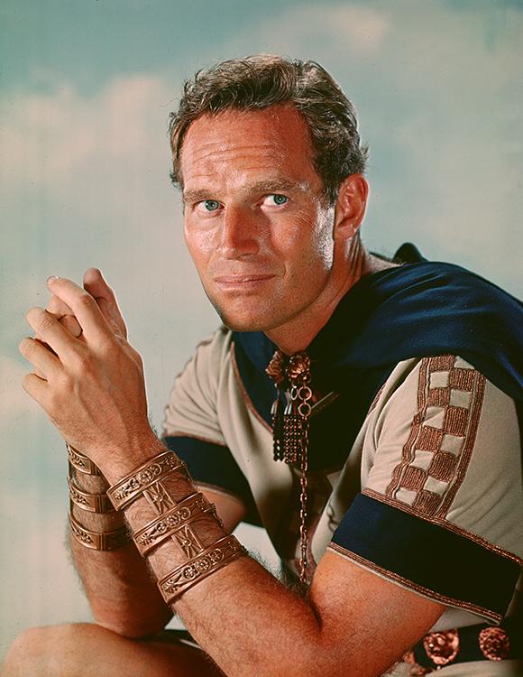 Charlton Heston won the Oscar in the 1959 biblical epic, Ben-Hur, which won an astounding 11 Oscars overall.