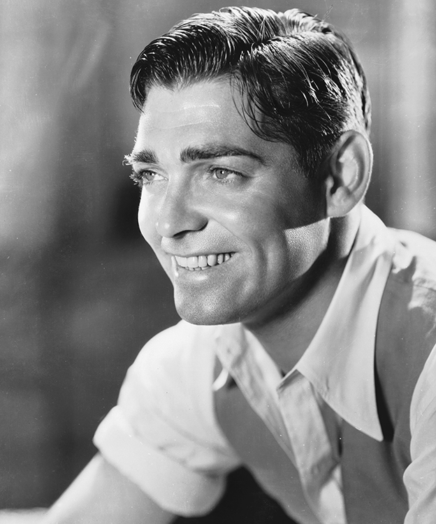 clark gable on the set of 1932's red dust
