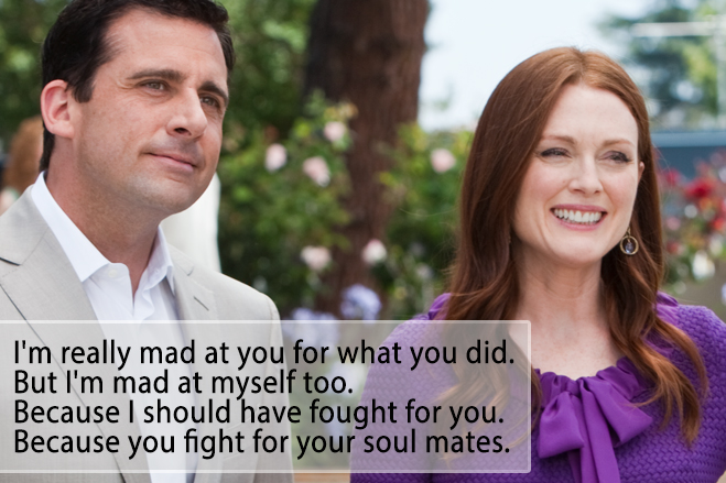 steve carell and Julianne Moore in Crazy. Stupid. Love.