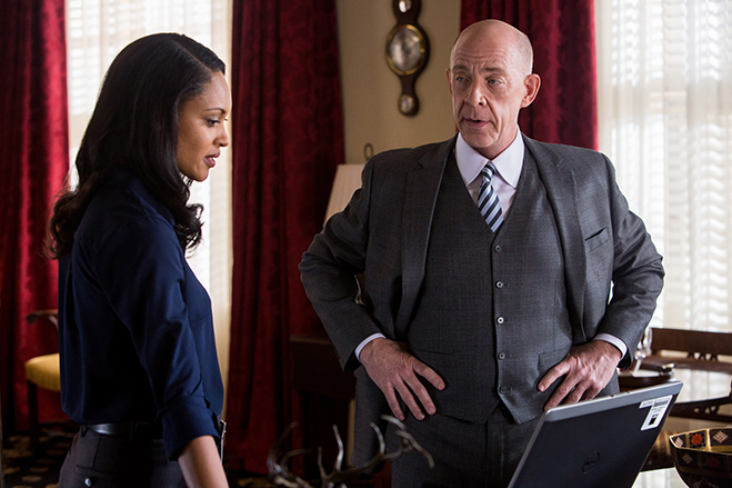 cynthia addia-robinson and j.k. simmons star in the accountant