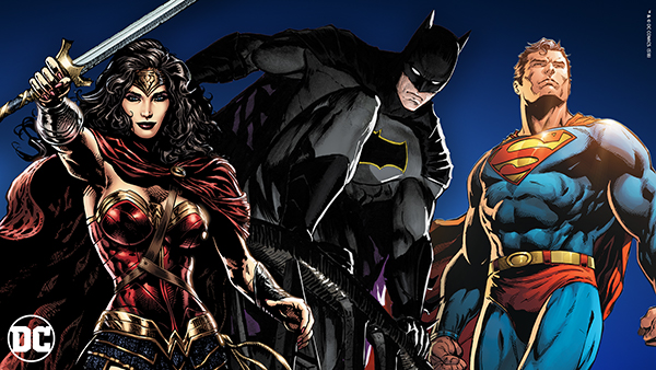 DC Comics Wonder Woman, Batman and Superman