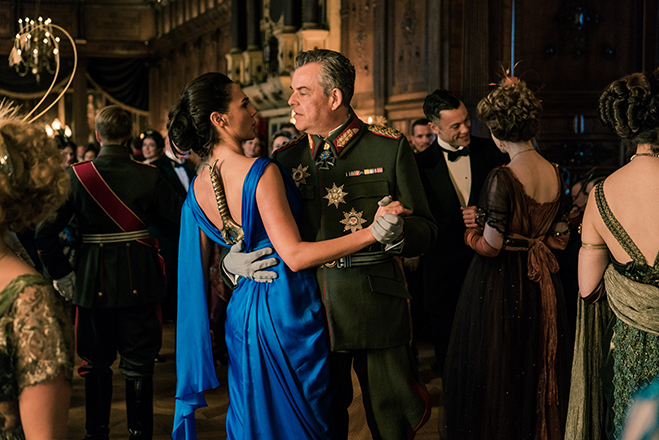Gal Gadot dances with the evil General Ludendorff, played by Danny Huston.